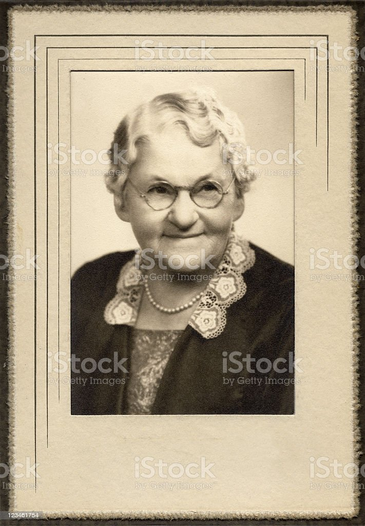 Classic Granny stock photo