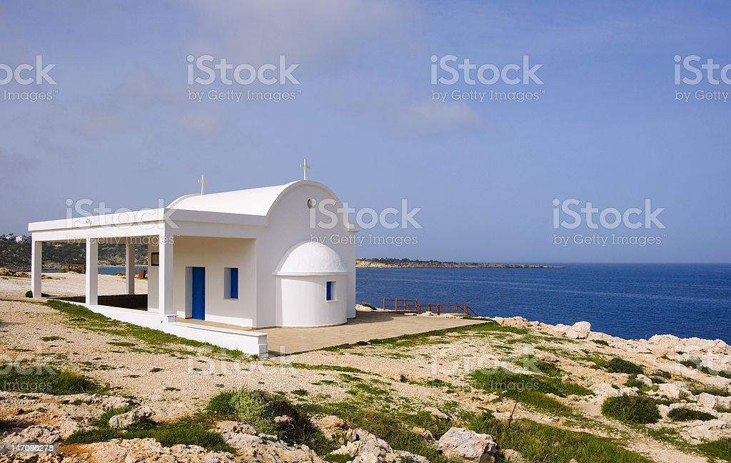 Classic Greek Church stock photo