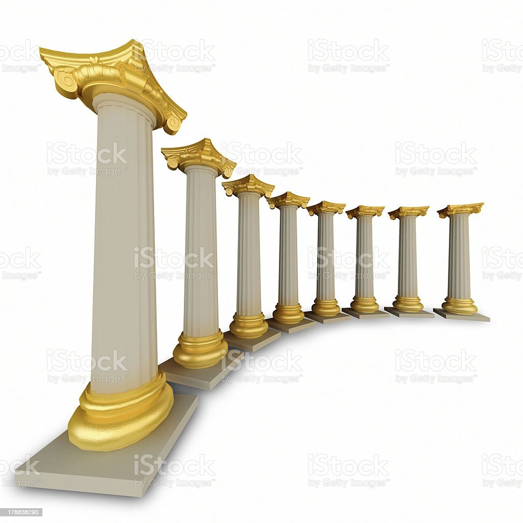 Classic Greek Column royalty-free stock photo