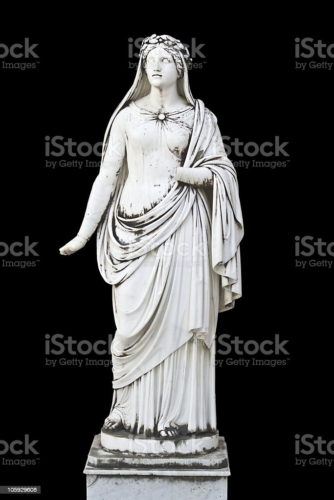 Classic Greek statue of a muse royalty-free stock photo