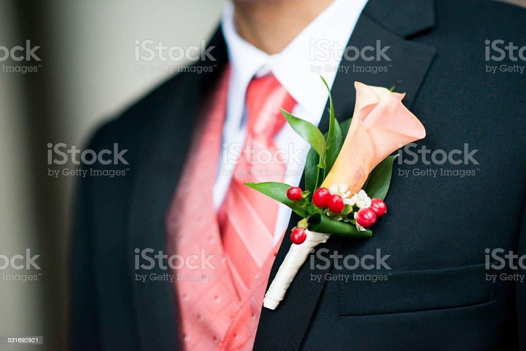 Classic Groom's Wedding Tuxedo stock photo