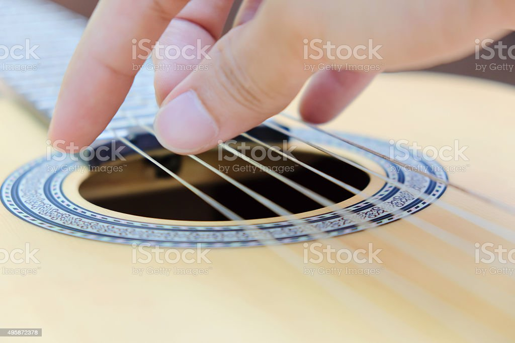 Classic Guitar Detail stock photo
