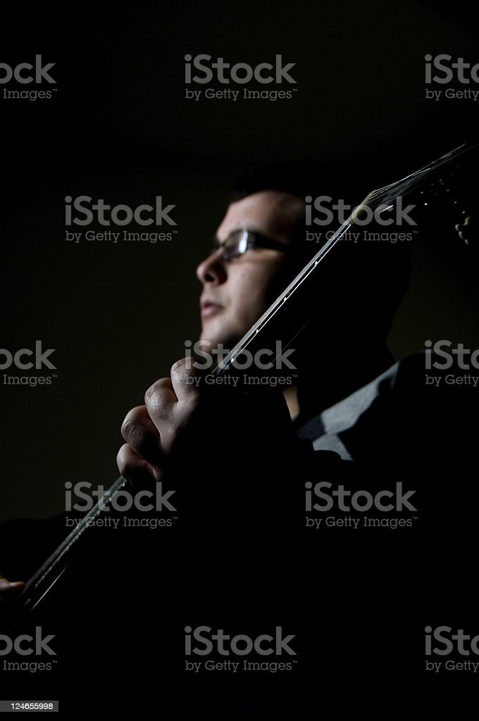 Classic Guitar Player stock photo