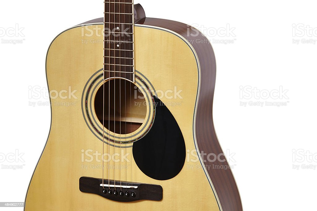 classic guitar with shallow depth of field stock photo