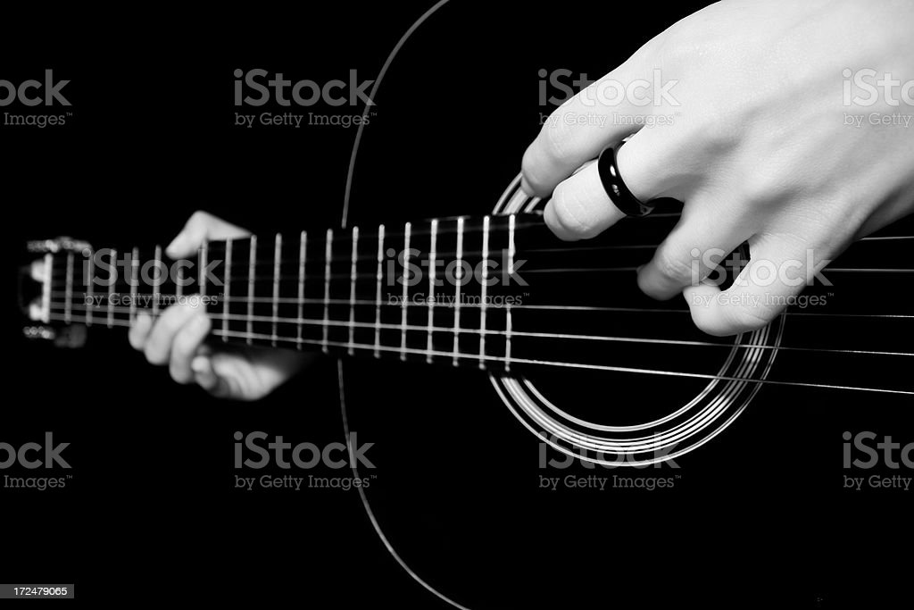 classic guitar-playing handsclassicguitar-playing hands royalty-free stock photo