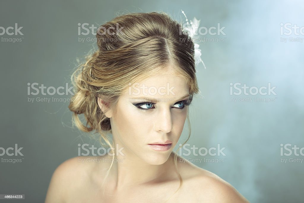 Classic hairstyle. stock photo