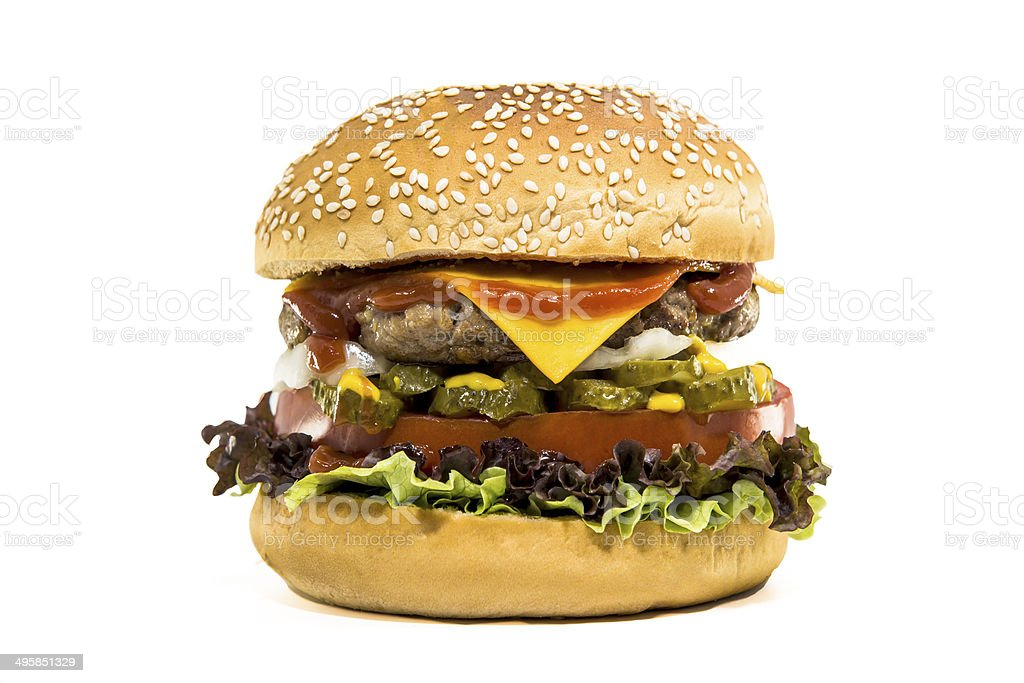 Classic hamburger stock photo