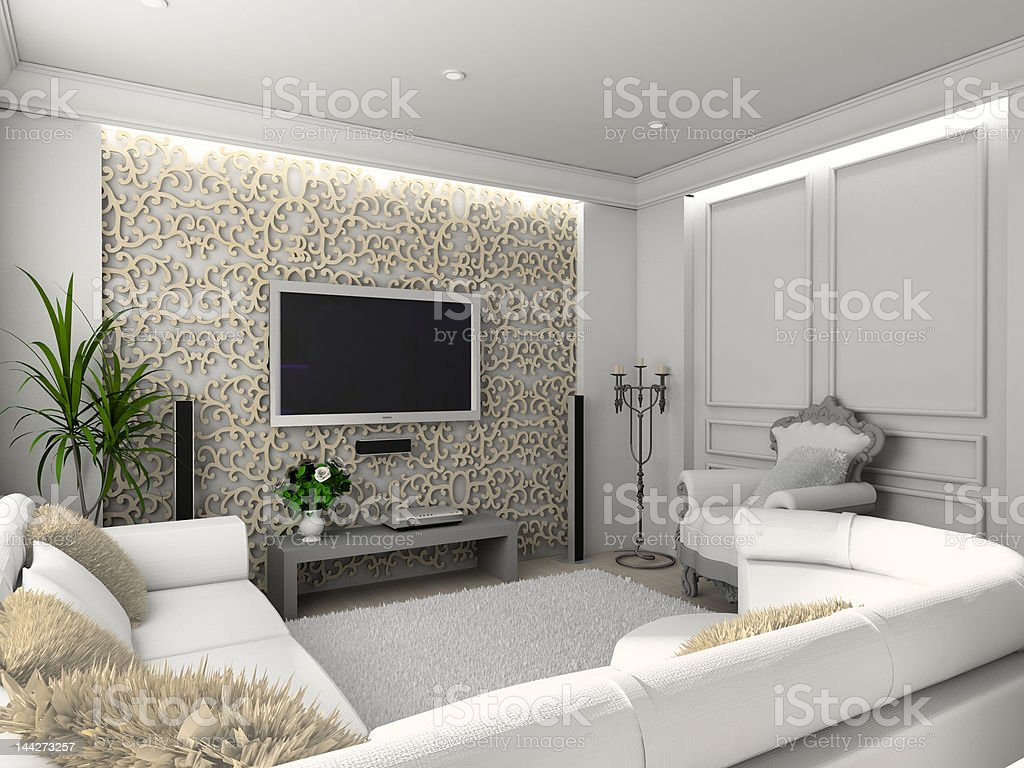 Classic home interior. royalty-free stock photo