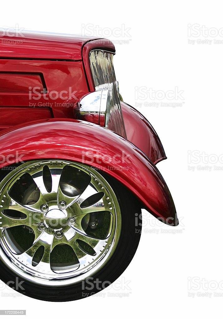 Classic Hotrod (path included) royalty-free stock photo