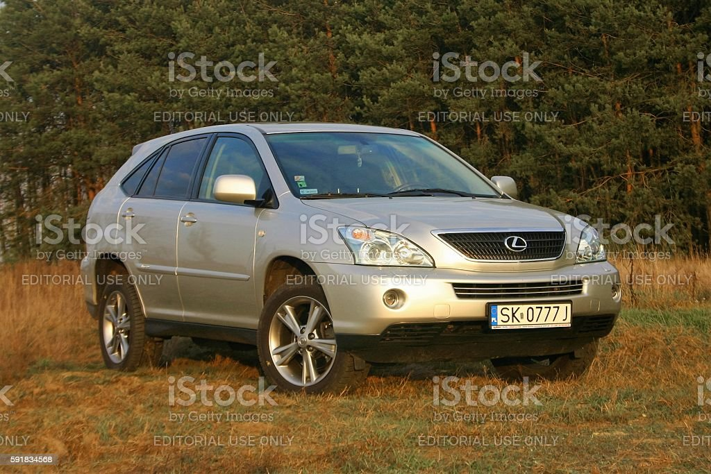 Classic hybrid vehicle Lexus RX 400h stock photo