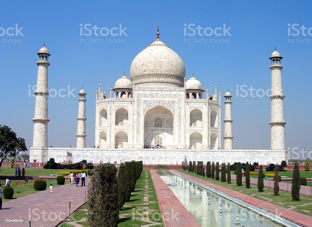 Classic image of the Taj Mahal royalty-free stock photo