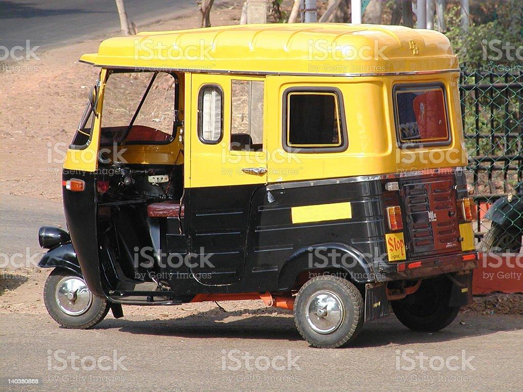 Classic Indian TukTuk royalty-free stock photo