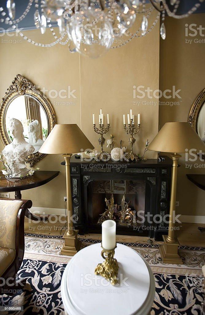 classic interior stock photo