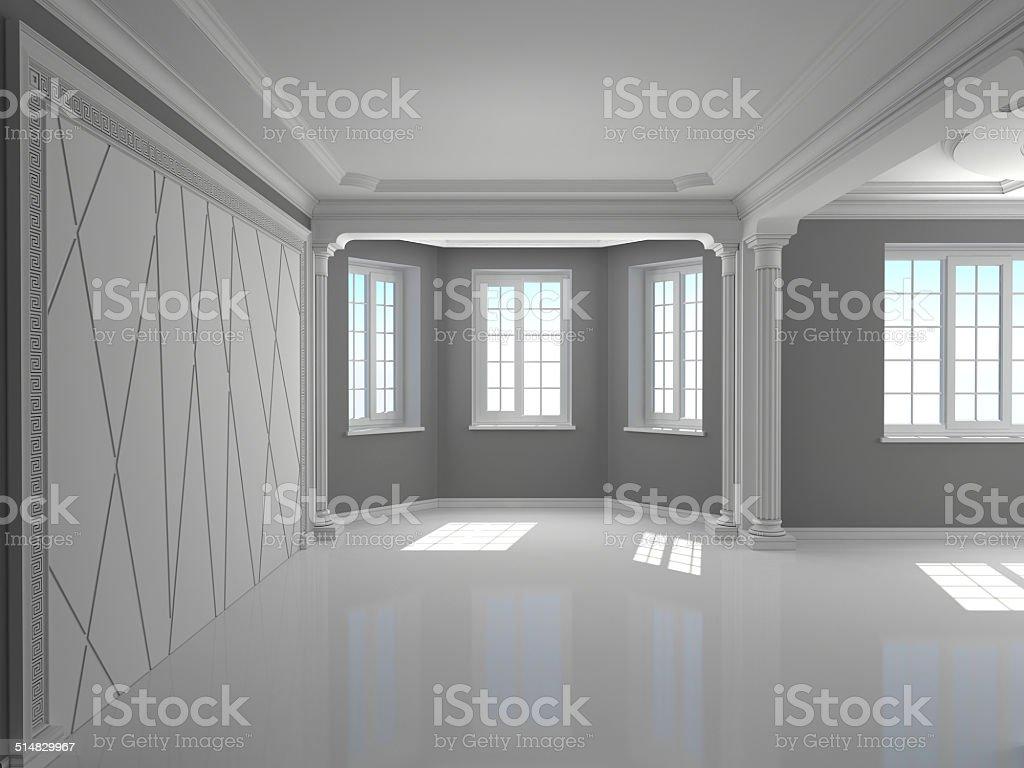 Classic interior with columns stock photo