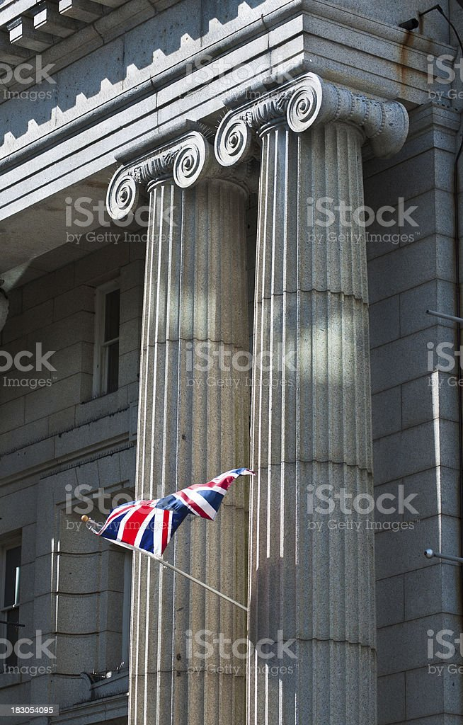 Classic Ionic Columns stock photo