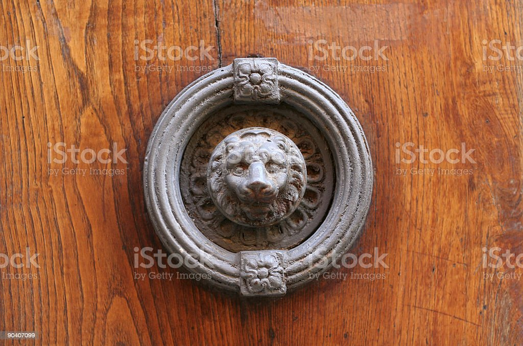 Classic Iron Door Knocker royalty-free stock photo
