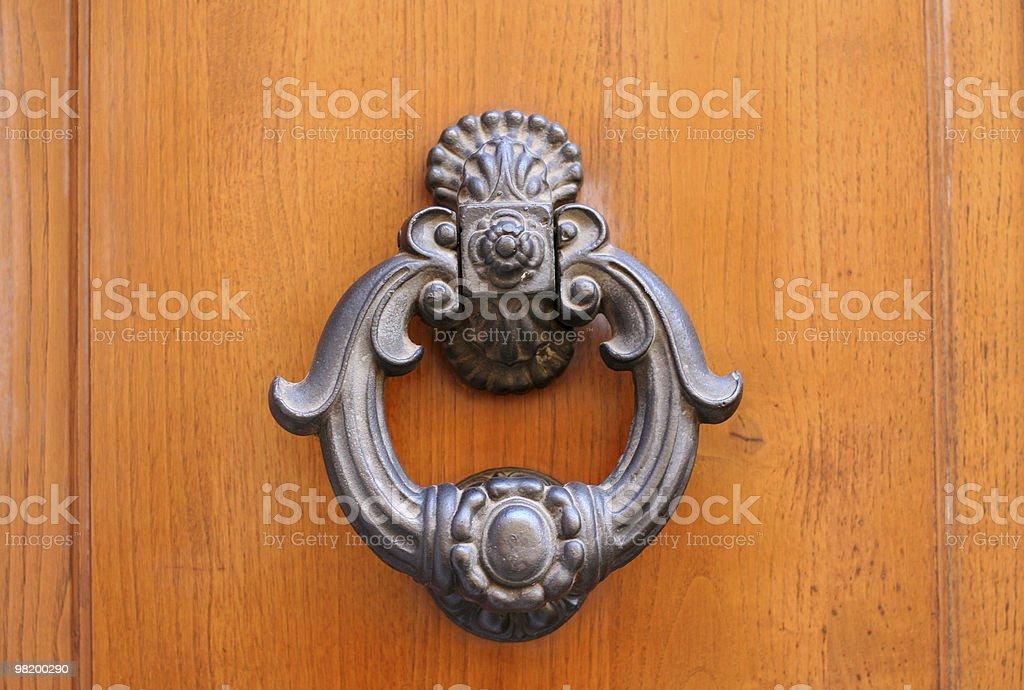 Classic Iron Door Knocker stock photo