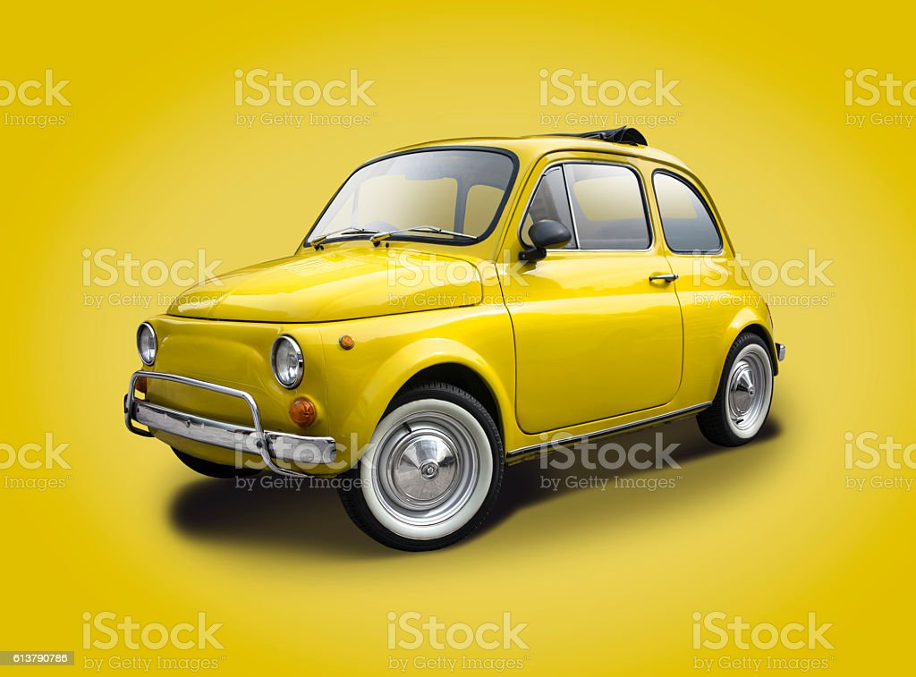 Classic italian car stock photo