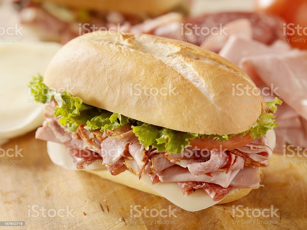 Classic Italian Sandwich stock photo
