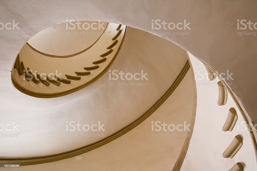 Classic  italian staircase royalty-free stock photo