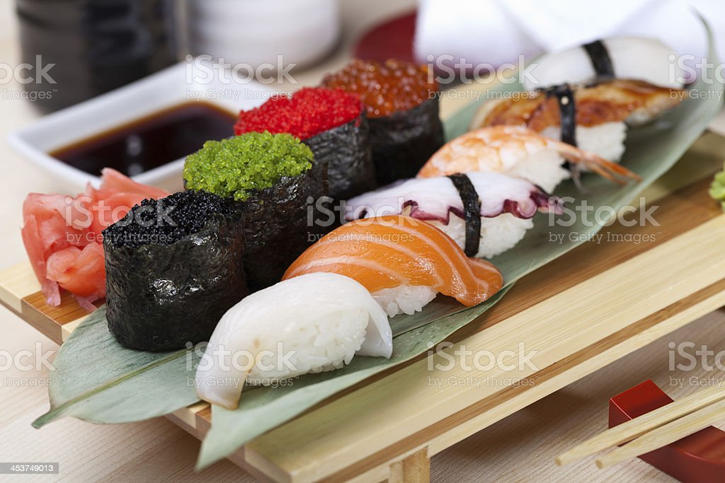 Classic japanese food stock photo