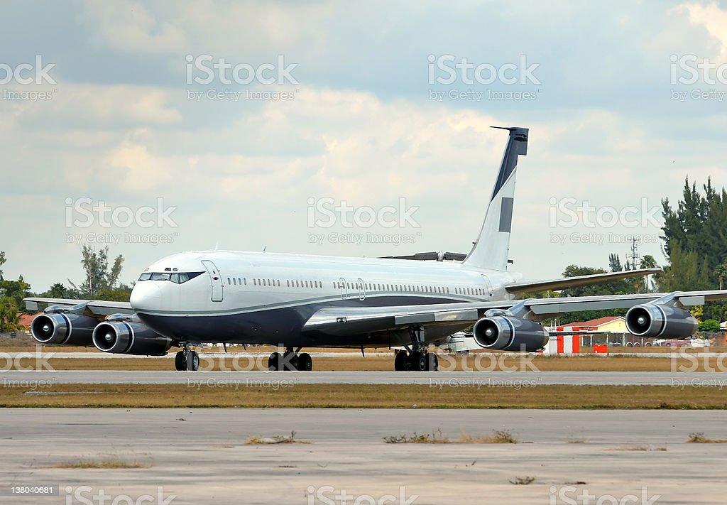 Classic jet airplane stock photo