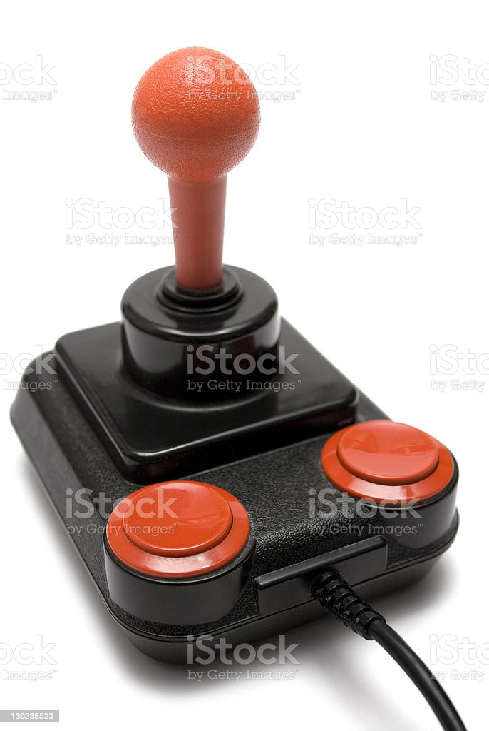 Classic Joystick (Front Side View) stock photo
