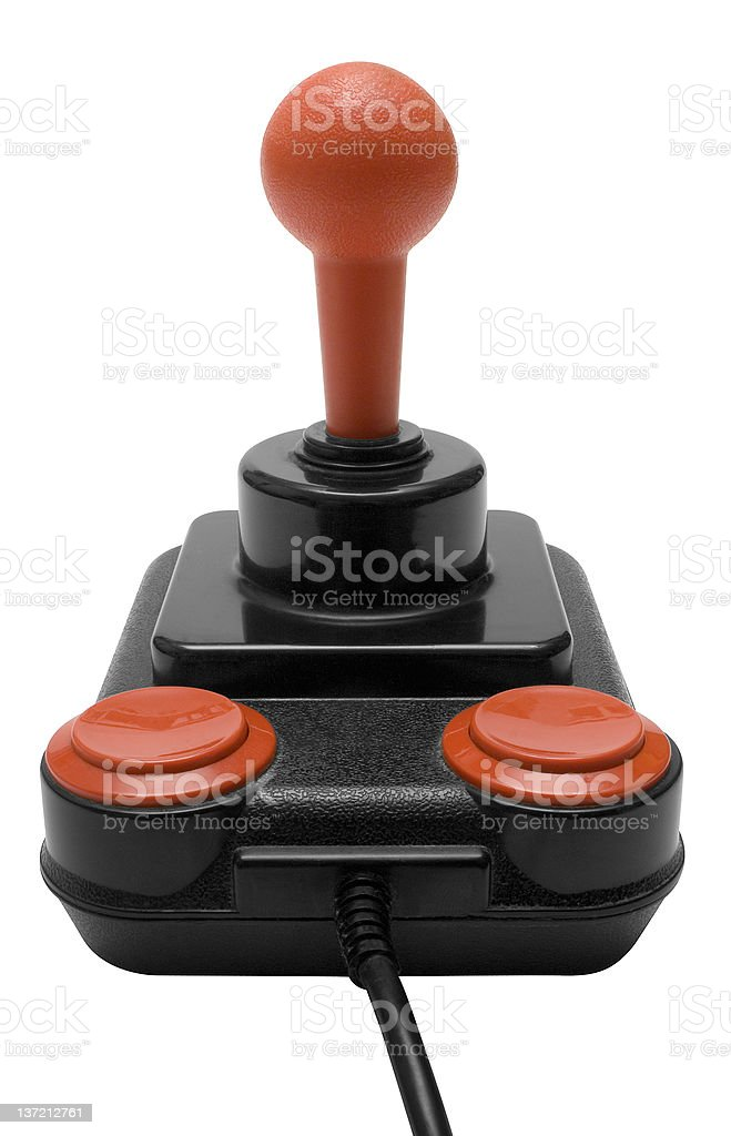 Classic Joystick w/ Path (Front View) stock photo