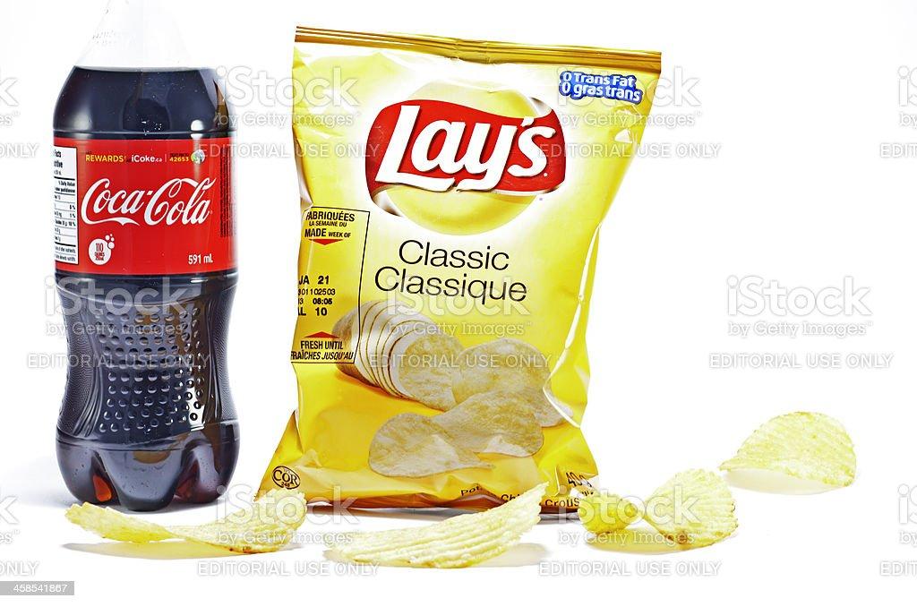 Classic Junk Food stock photo
