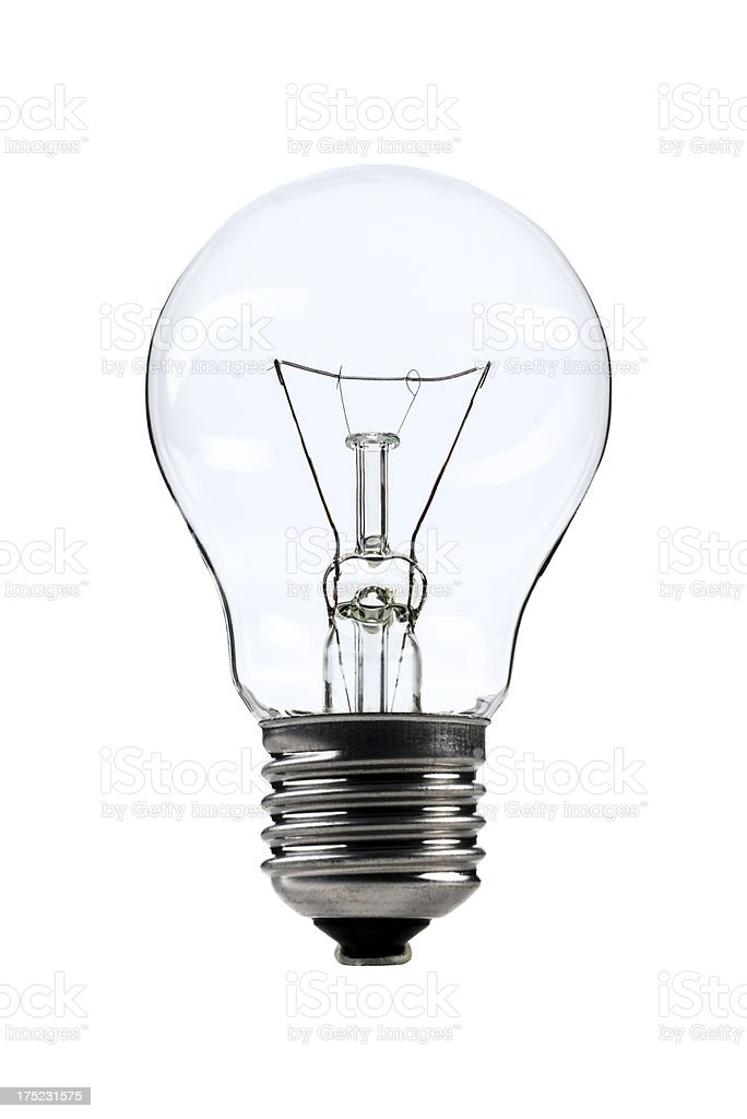 Classic light bulb isolated on white background royalty-free stock photo