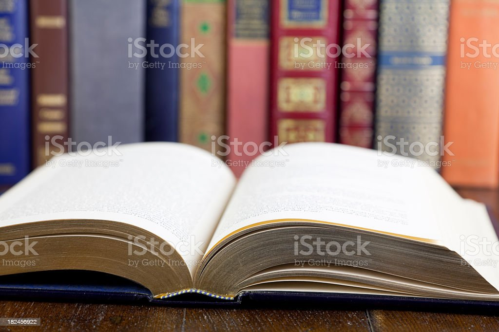 Classic Literature with an Open Book Invites Readers royalty-free stock photo