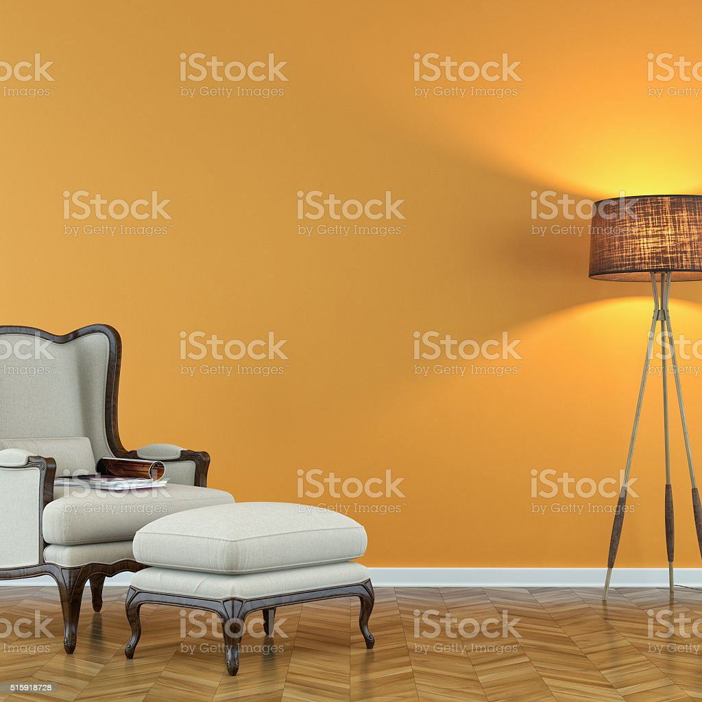 Classic living room with chair stock photo