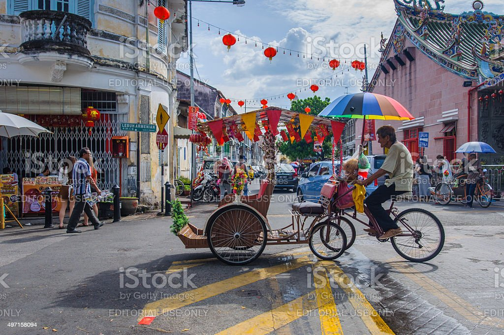 Classic local rickshaw stock photo