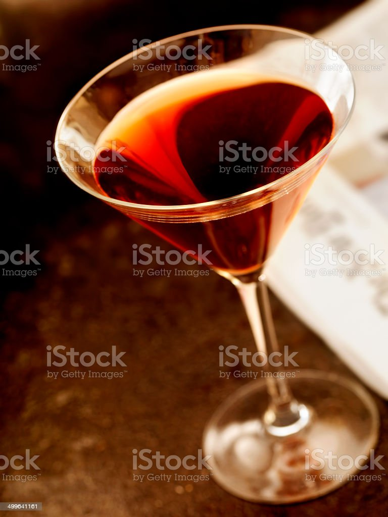 Classic Manhattan Cocktail stock photo