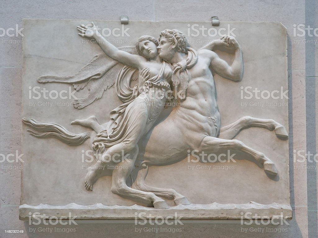 Classic marble bas-relief royalty-free stock photo