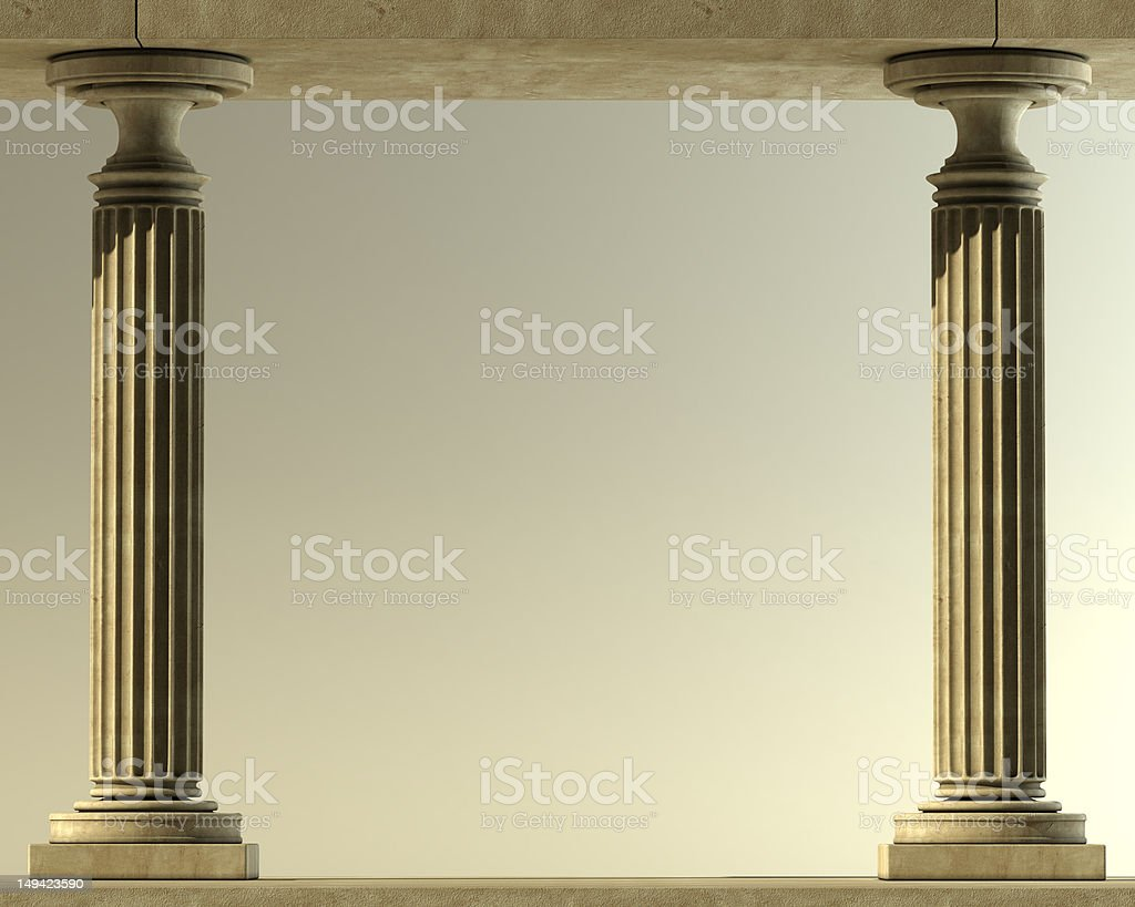 Classic Marble Column stock photo
