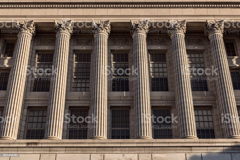 Classic Marble Columns stock photo