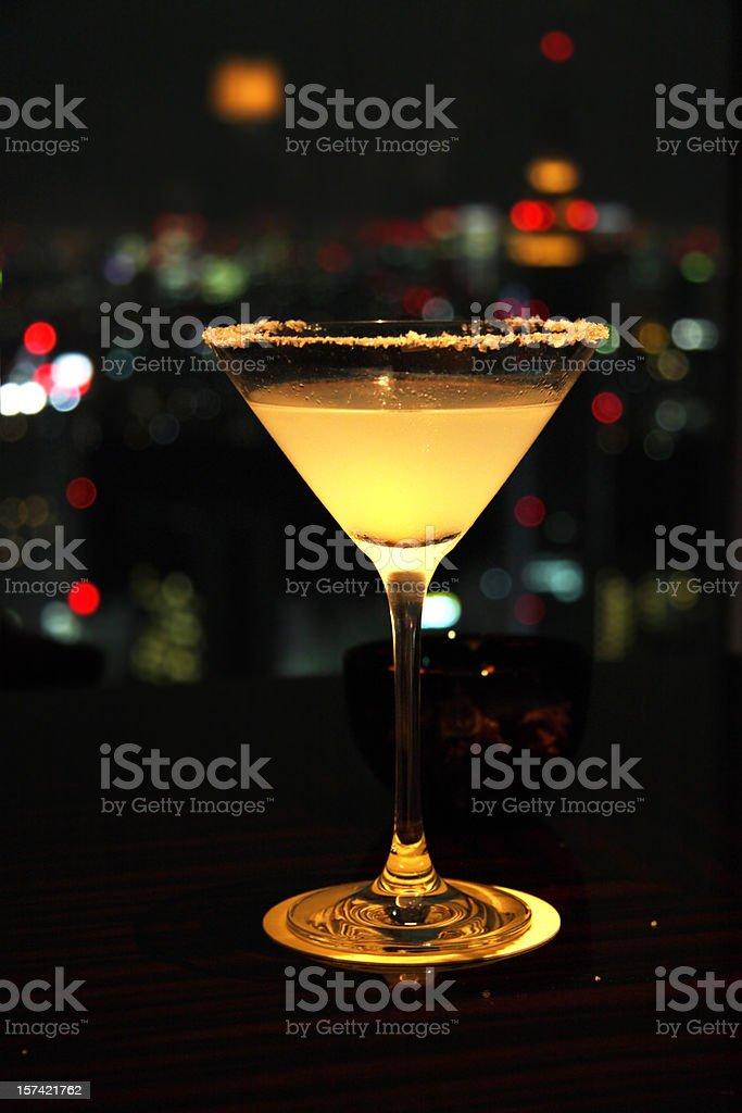 Classic Margarita at a cocktailbar stock photo