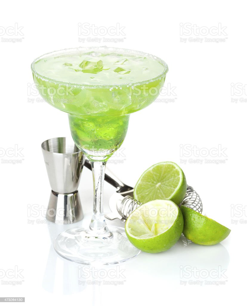 Classic margarita cocktail stock photo