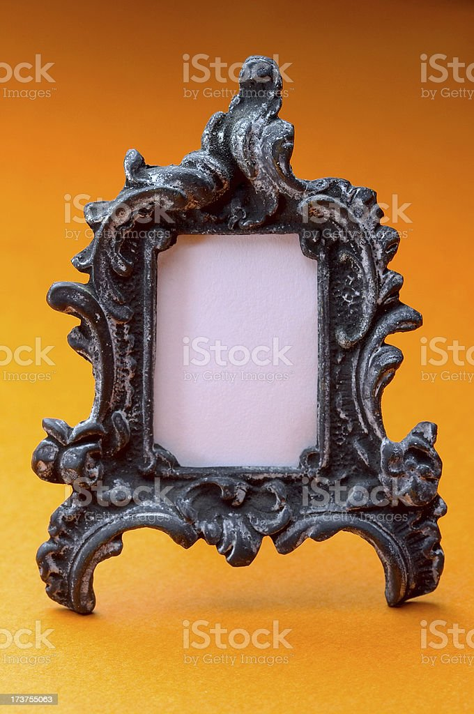Classic Metal Portrait Frame royalty-free stock photo