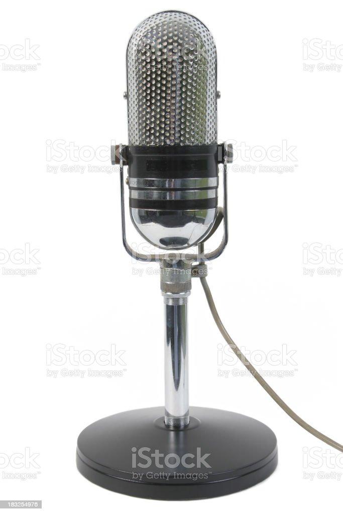 Classic microphone stock photo