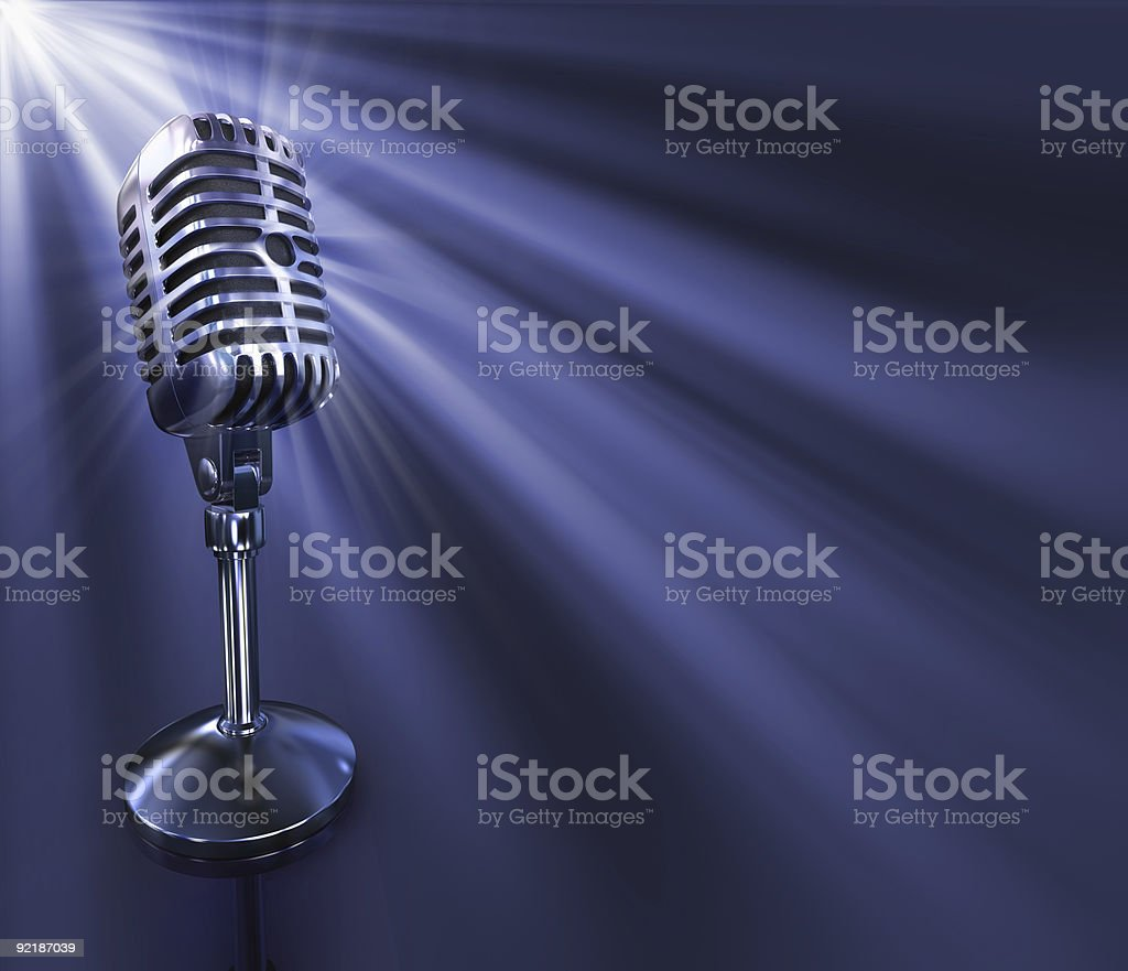 Classic Microphone royalty-free stock photo
