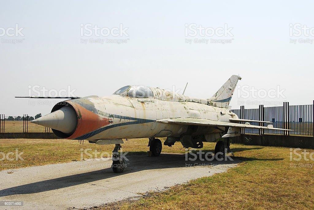 Classic Mig 21 jetfighter royalty-free stock photo