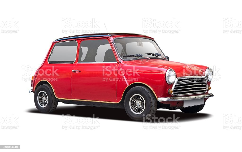 Classic mini car stock photo