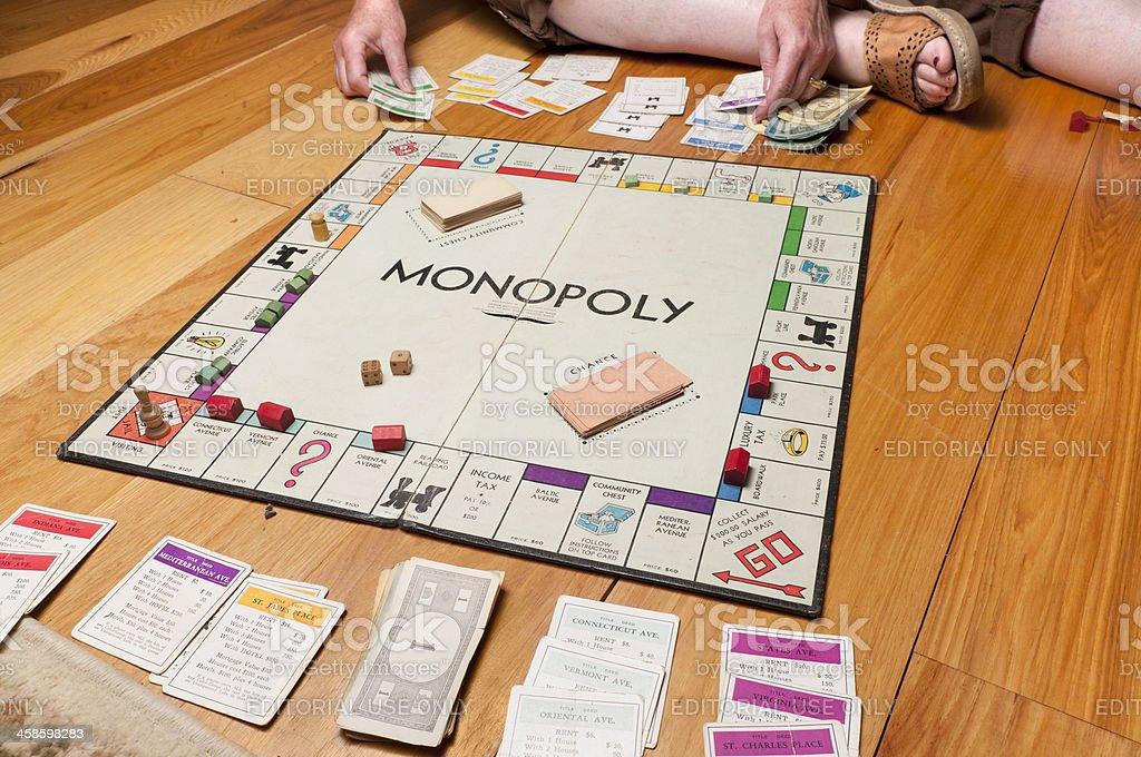 Classic Monopoly on the Floor stock photo