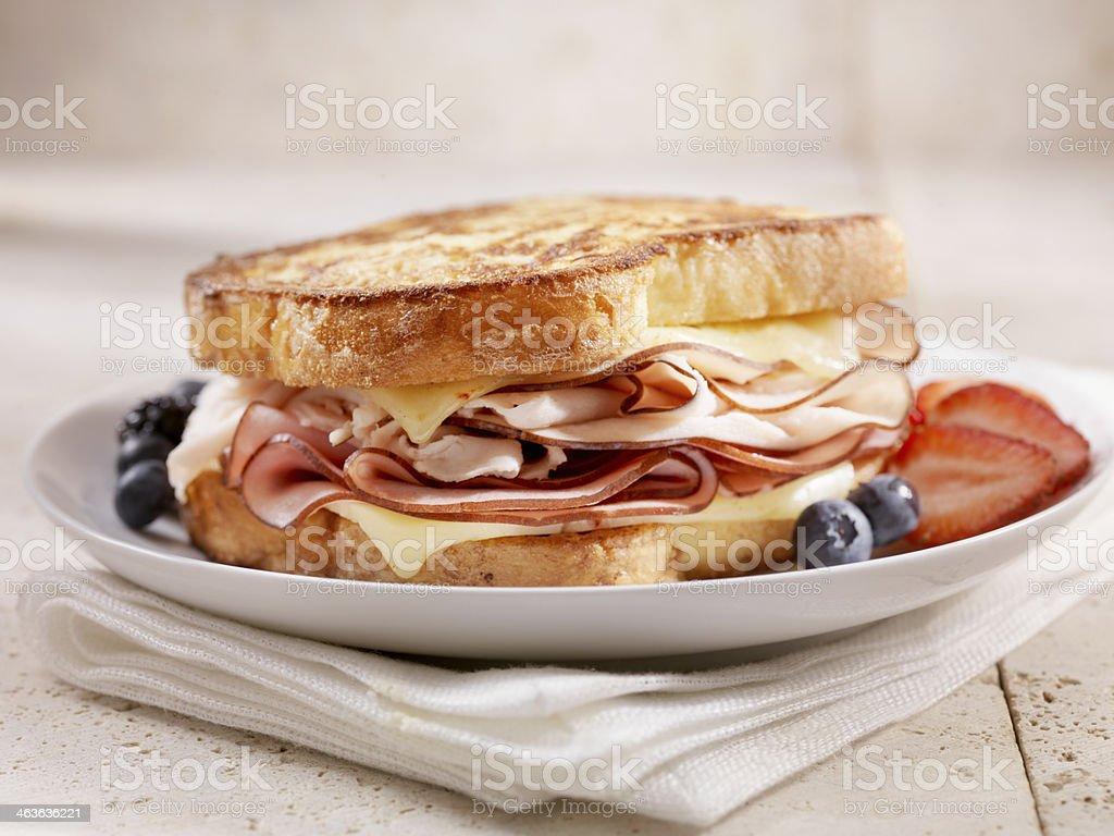 Classic Monte Cristo Sandwich stock photo