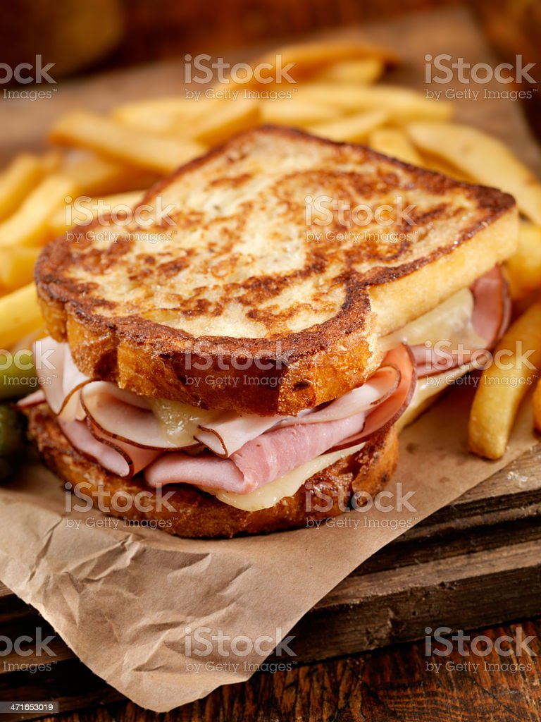 Classic Monte Cristo Sandwich royalty-free stock photo