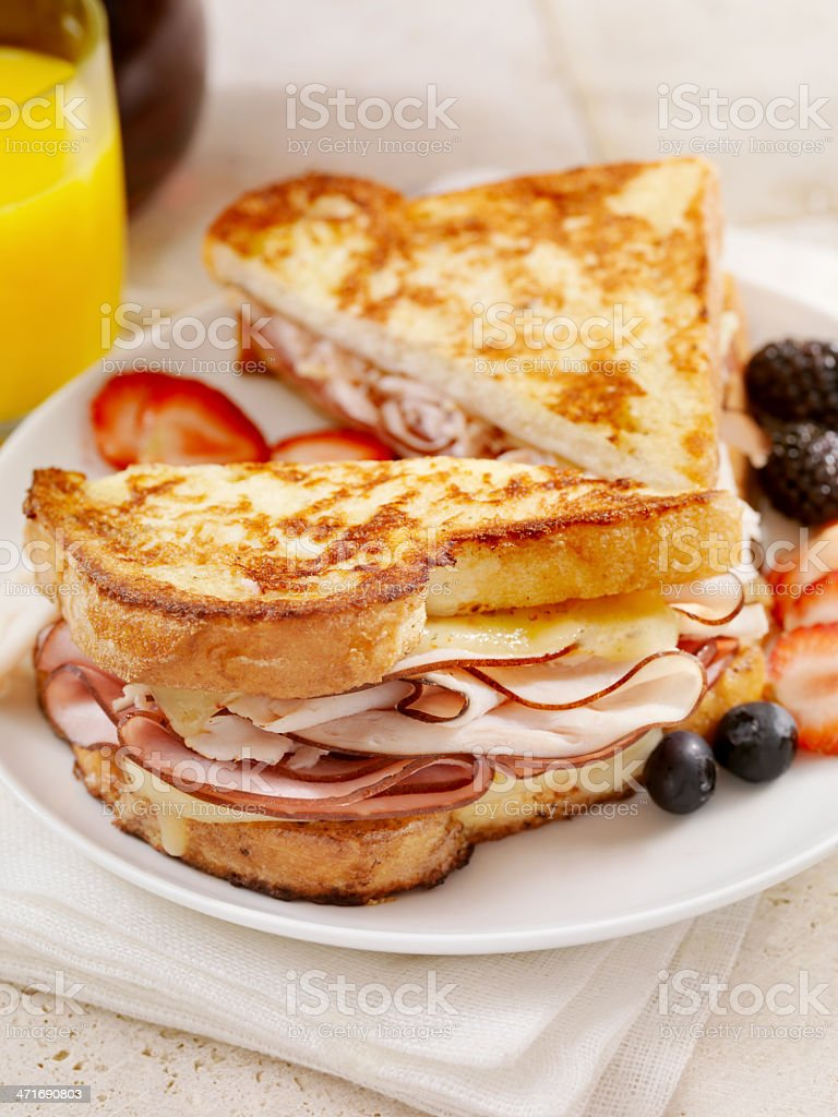 Classic Monte Cristo Sandwich royalty-free stock photo