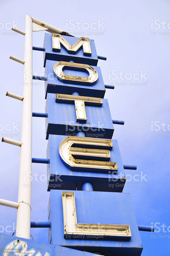 Classic Motel Sign 3 royalty-free stock photo