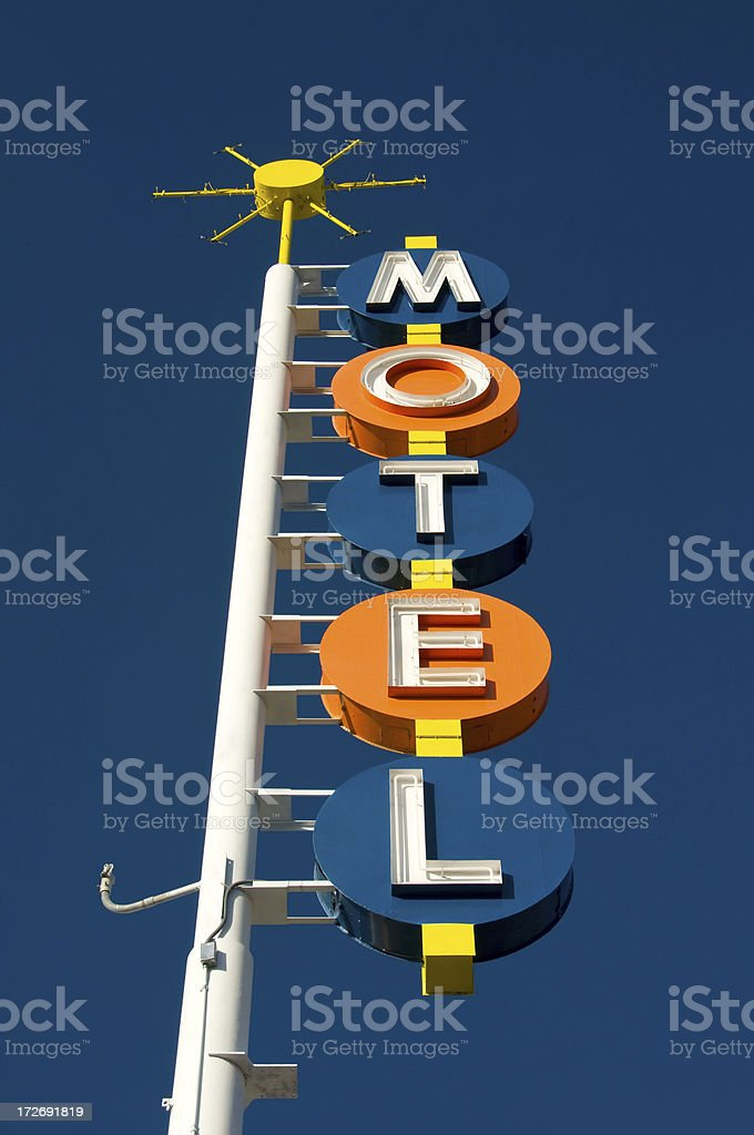 Classic Motel Sign royalty-free stock photo